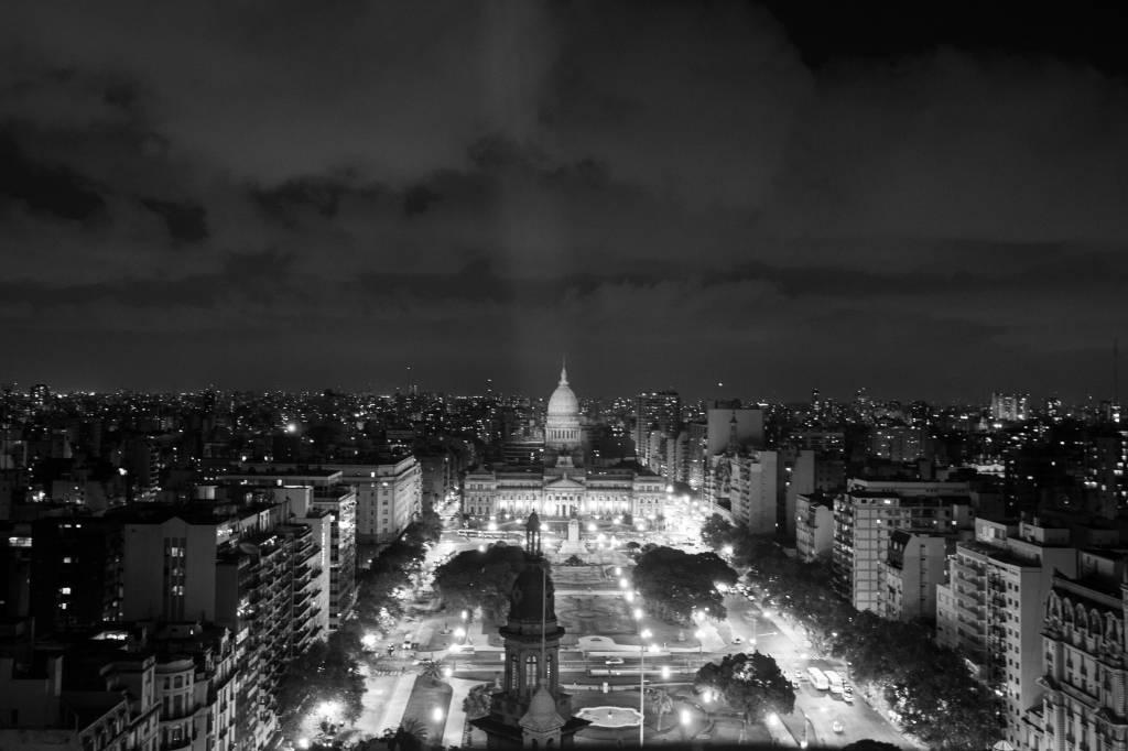 O congresso visto do alto do Edifício Barolo, Montserrat, Buenos Aires, Argentina