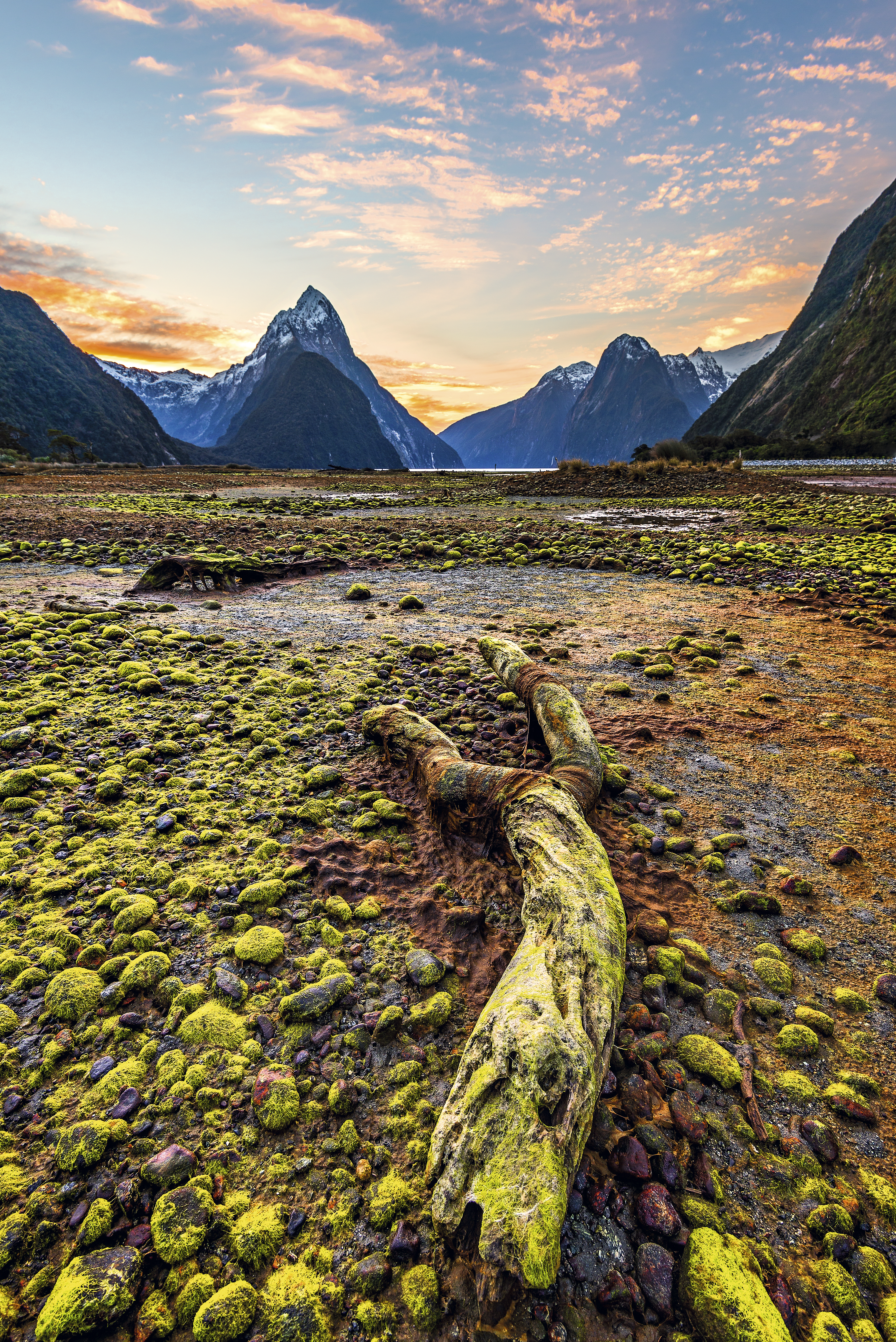 Fiorde em Milford Sound, Nova Zelândia