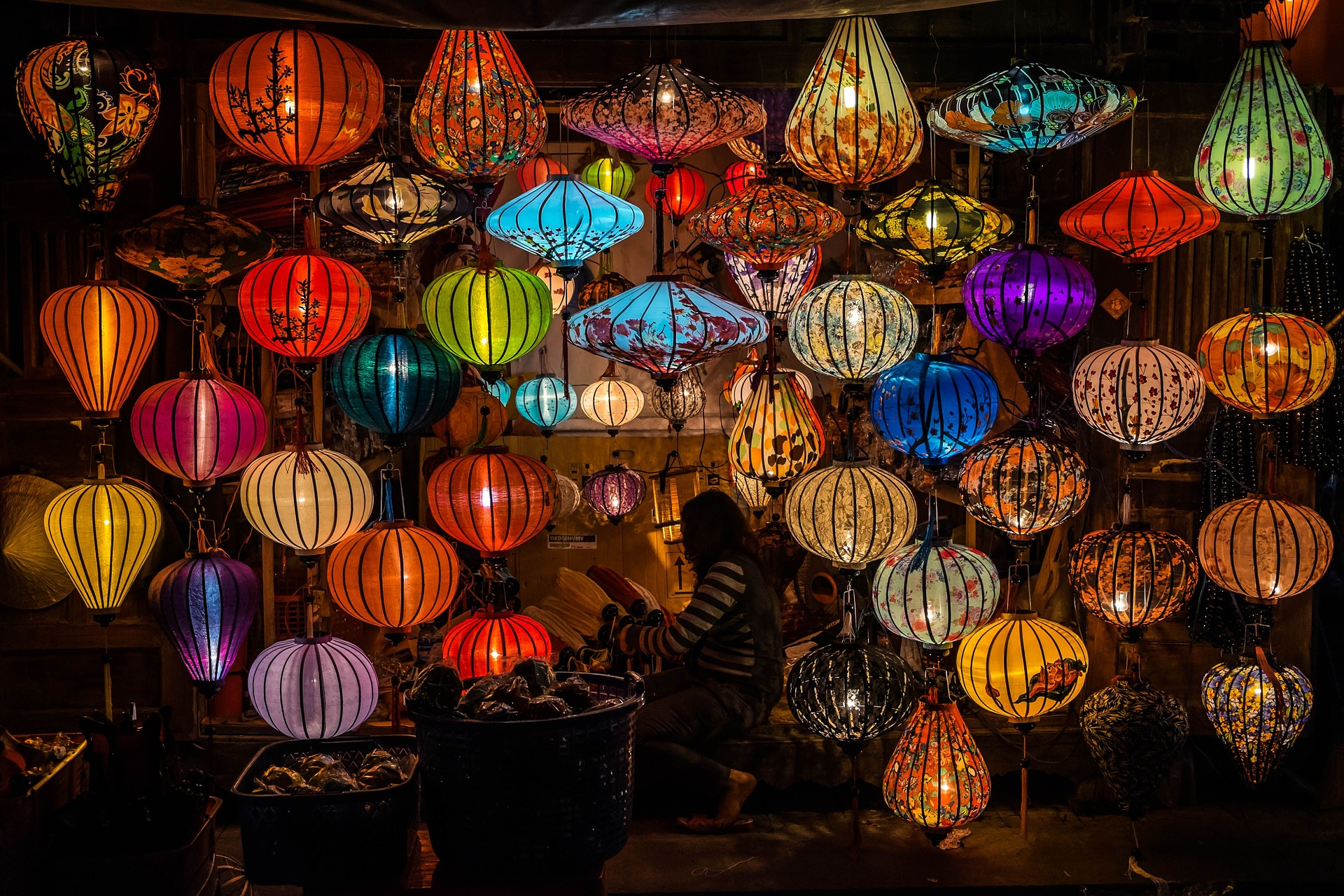 Loja de lanternas em Hoi An