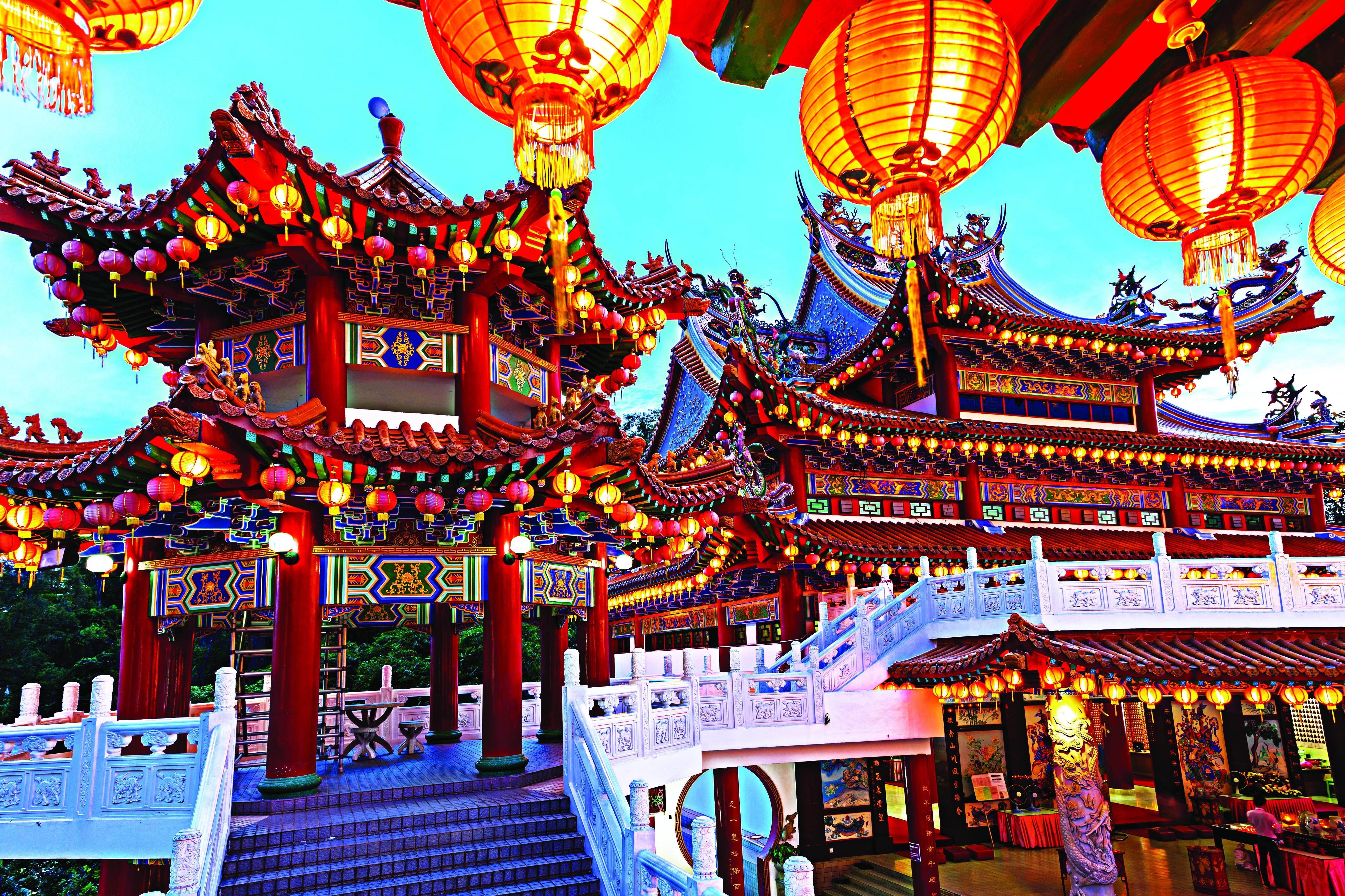 O Templo de Thean Hou, em Kuala Lumpur