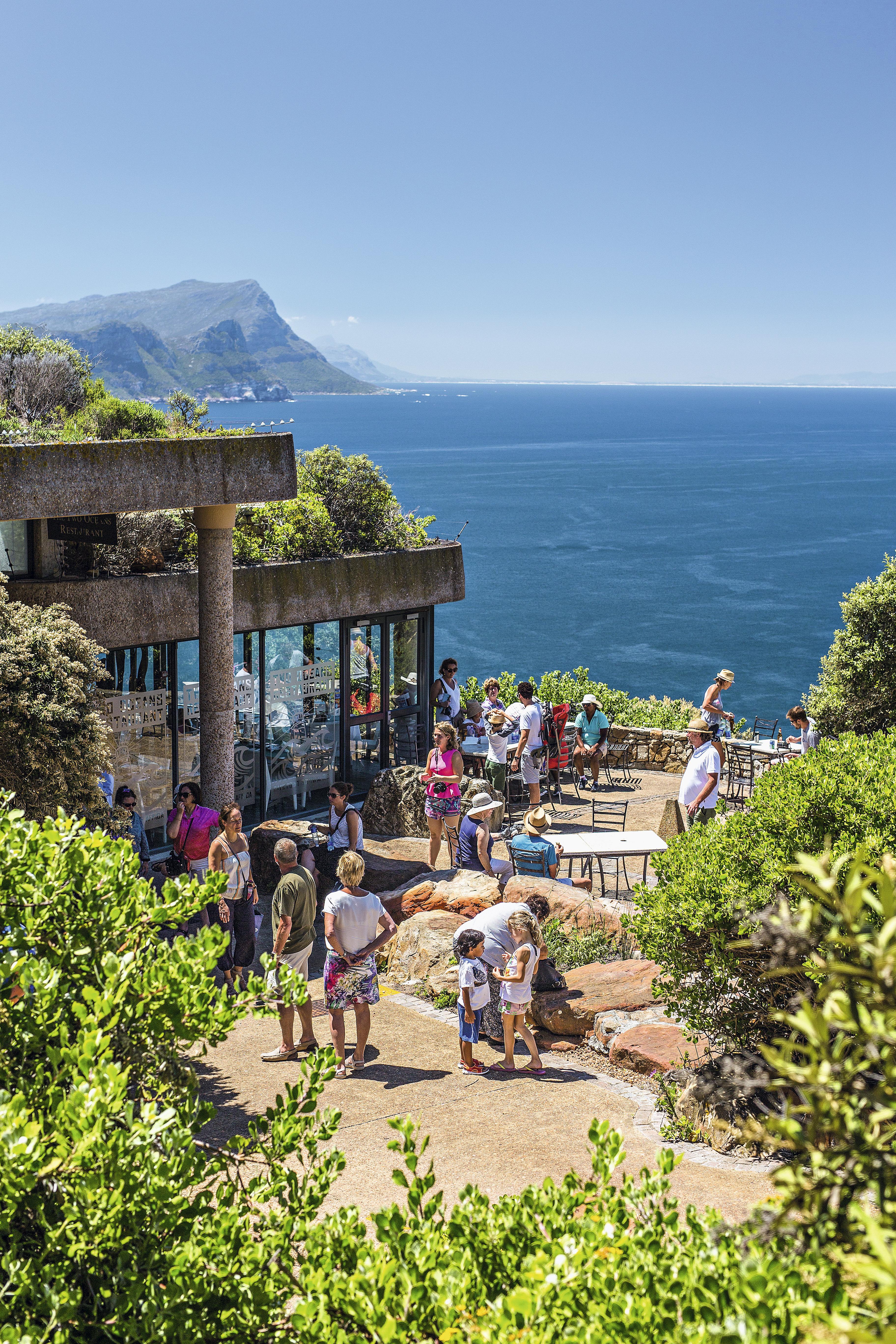 Terraço no Cape Point, África do Sul
