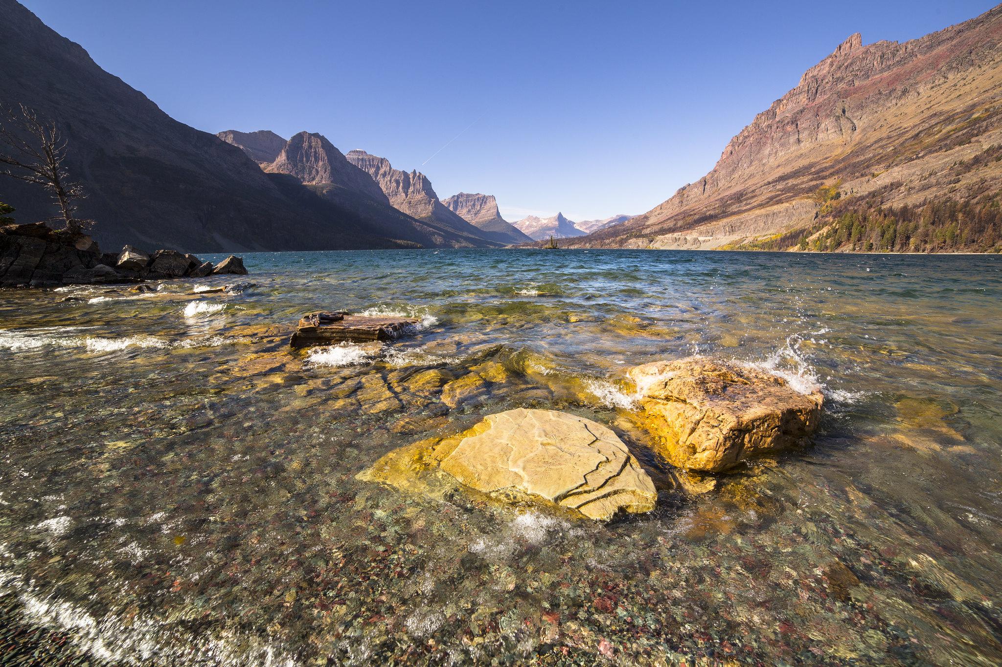 Saint Mary Lake, no Glacier National Park