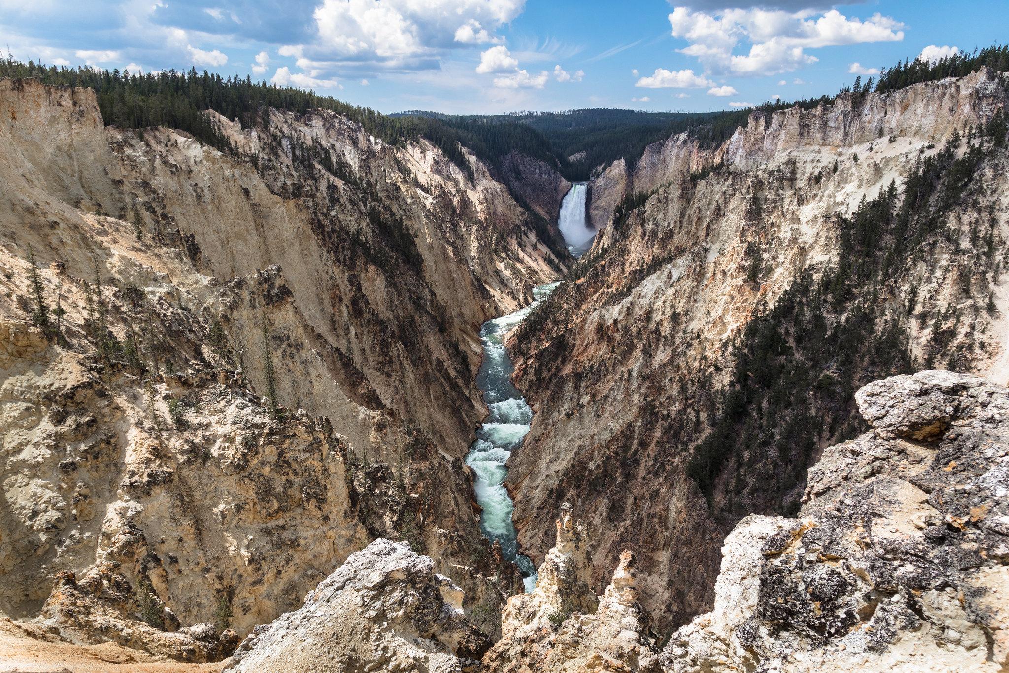 Grand Canyon do Yellowstone visto do Artist Point