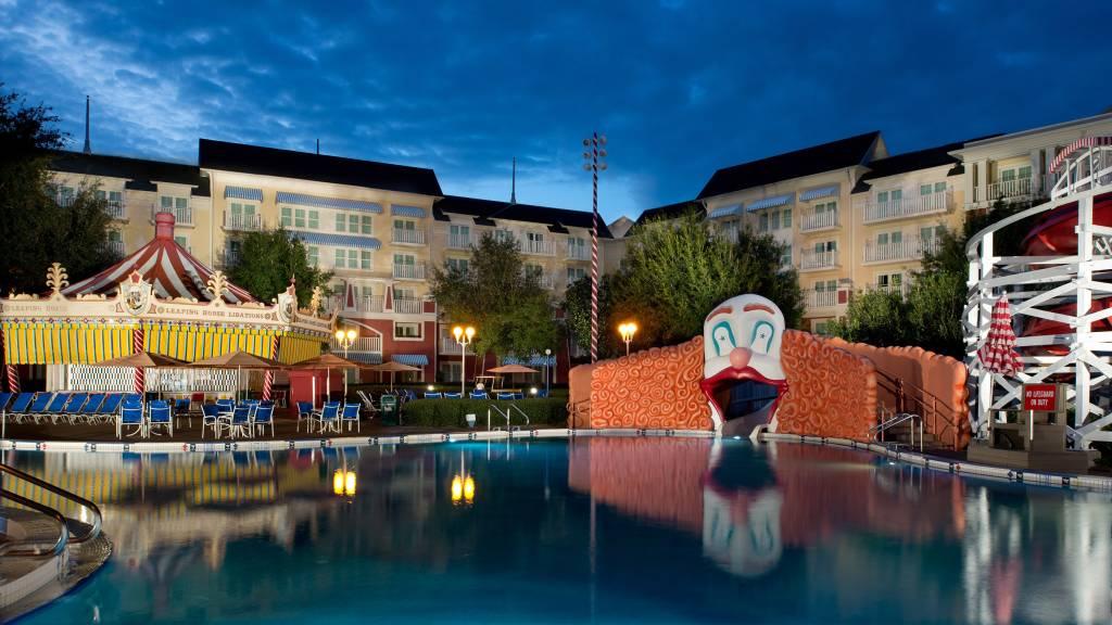 A piscina do Boardwalk Inn, hotel dentro do complexo Disney