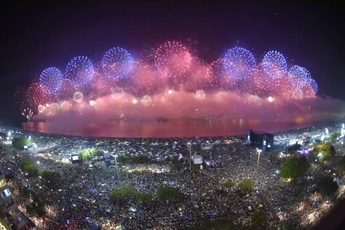 Ano Novo na Praia de Copacabana, no Rio de Janeiro