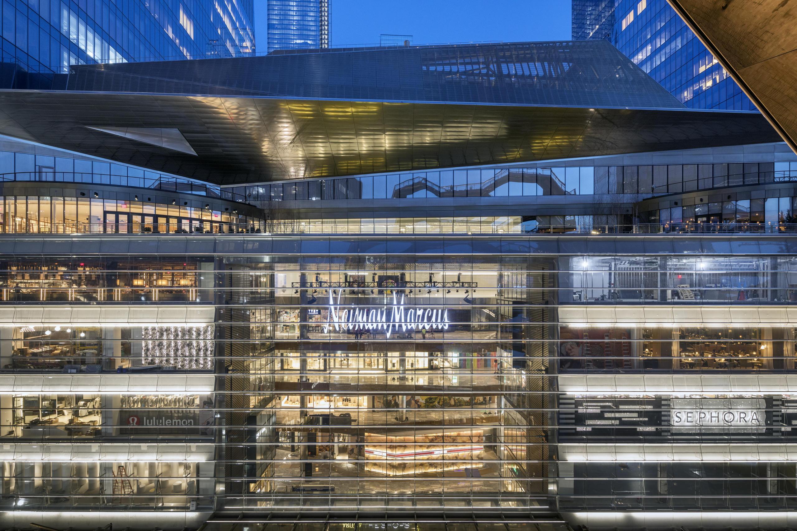 Shopping dentro do complexo Hudson Yards, em Nova York