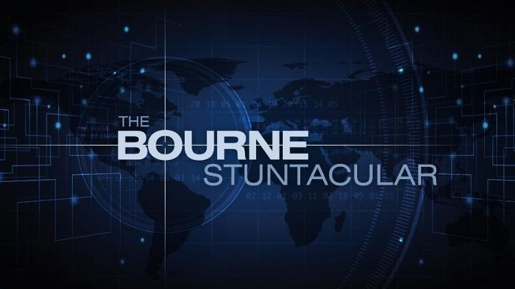 Banner do The Bourne Stuntacular, no Universal Studios, em Orlando