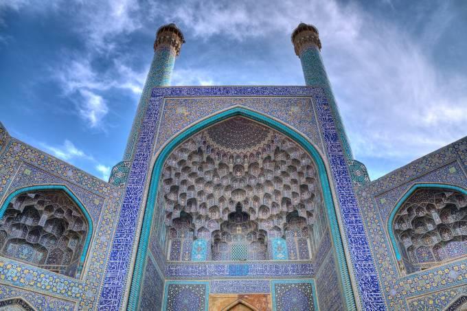 Entrada principal da Grande Mesquita de Isfahan
