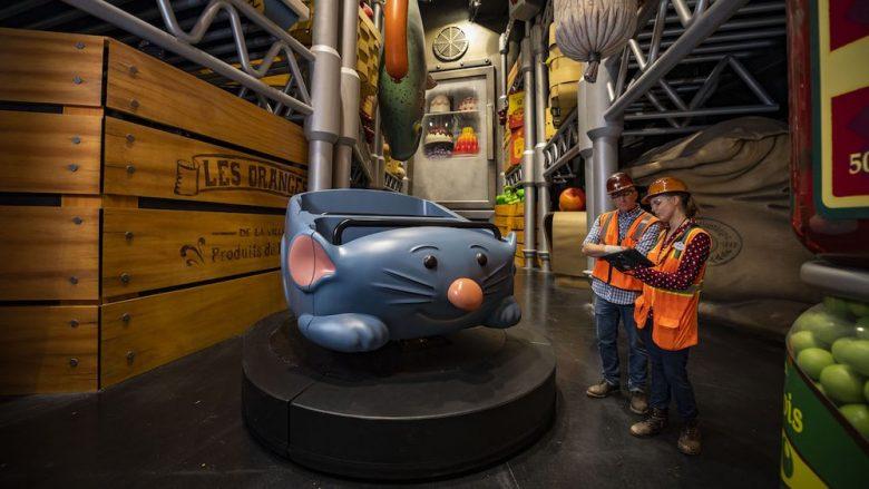 Brinquedo Remy's Ratatouille Adventure, no Epcot, em Orlando