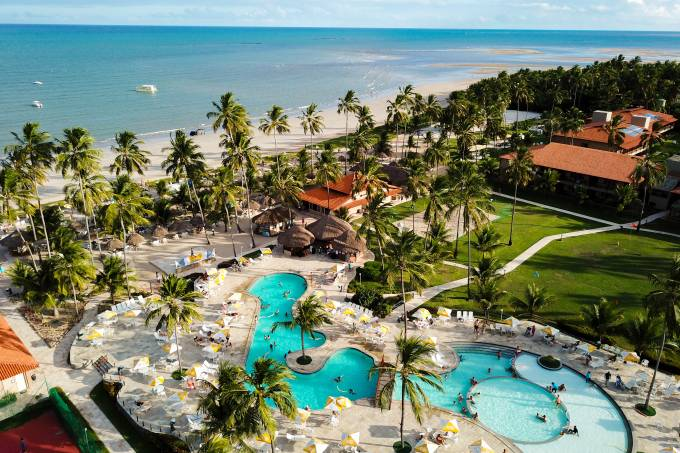 Imagem aérea do Salinas Maragogi, Alagoas