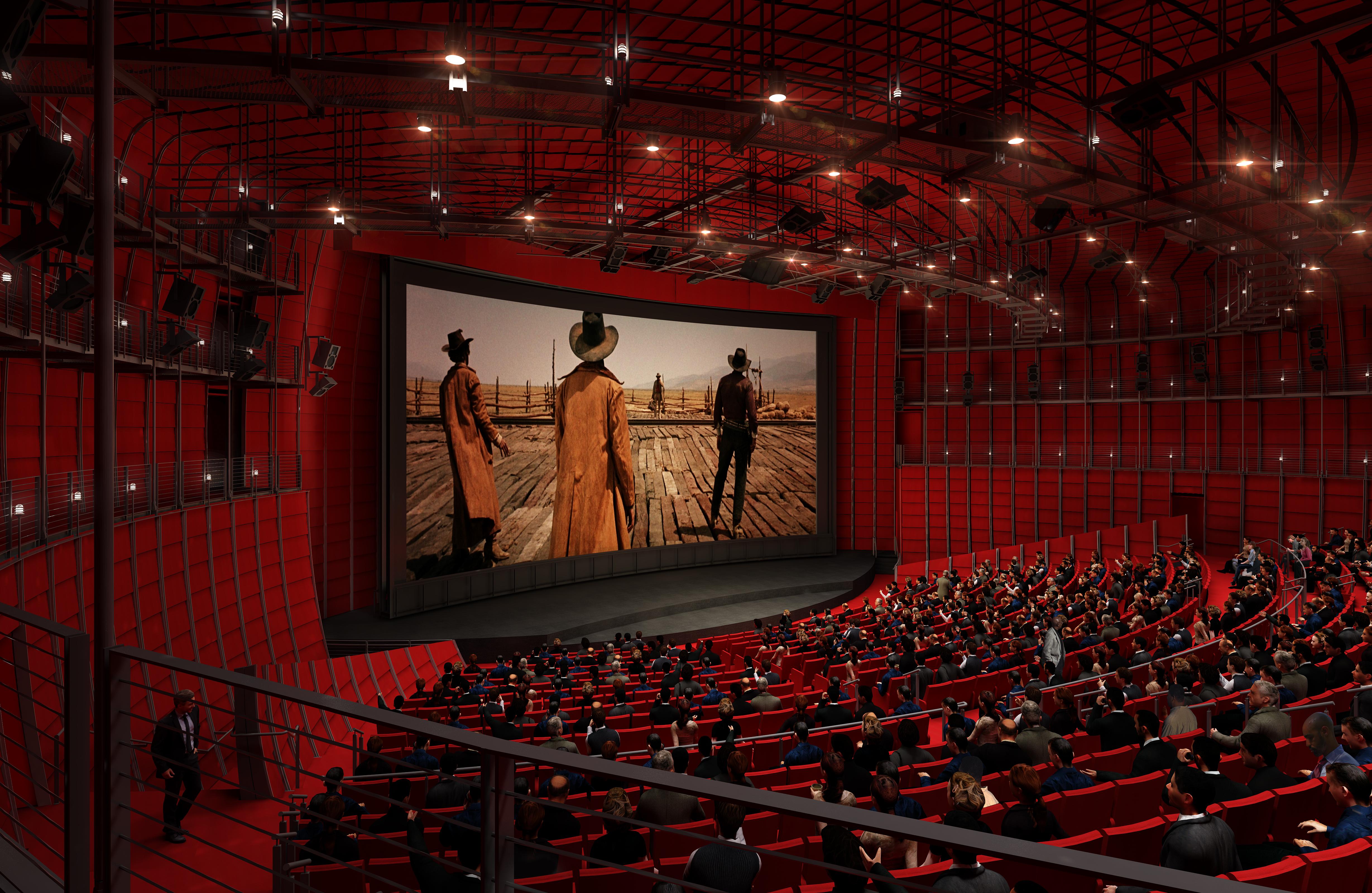David Geffen Theatre, dentro da construção esférica, com mil lugares