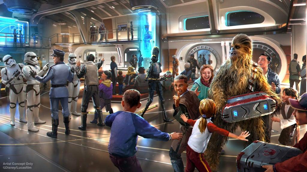 Croqui do hotel de Star Wars na Disney de Orlando, Estados Unidos