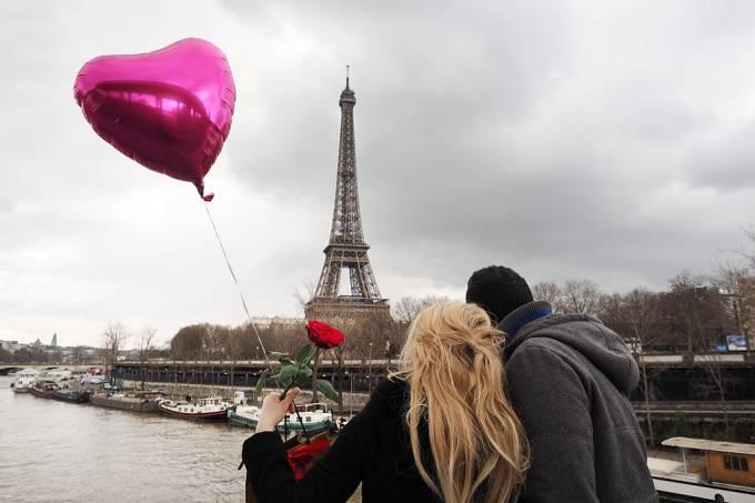 Torre Eiffel, Dia dos Namorados, Paris