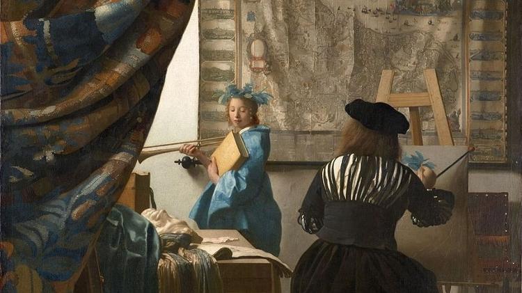 """A arte da pintura"", de Johannes Vermeer"