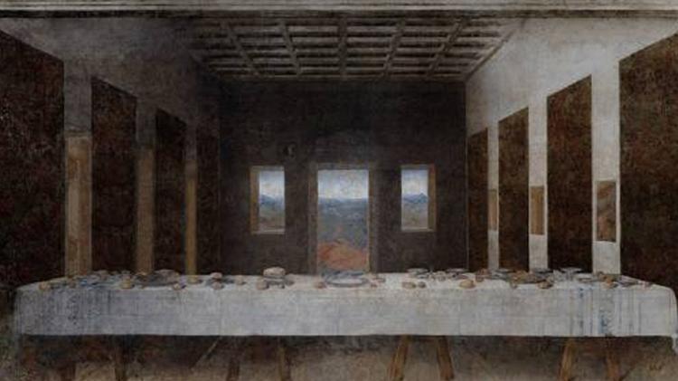 """""""A última ceia"""", de Leonardo da Vinci"""