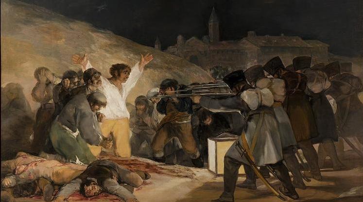 """""""Três de maio de 1808 em Madrid"""", de Francisco Goya"""