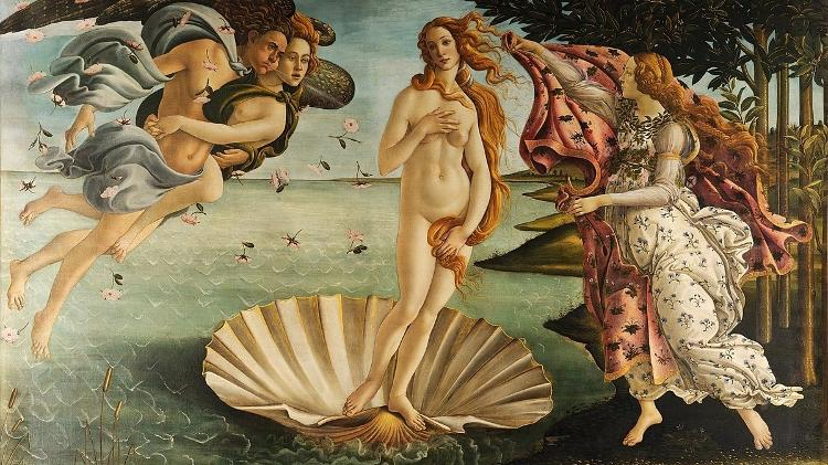 """O nascimento de Vênus"", de Sandro Botticelli"