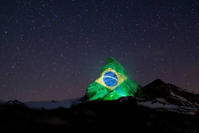 Projeção Monte Matterhorn – Coronavírus
