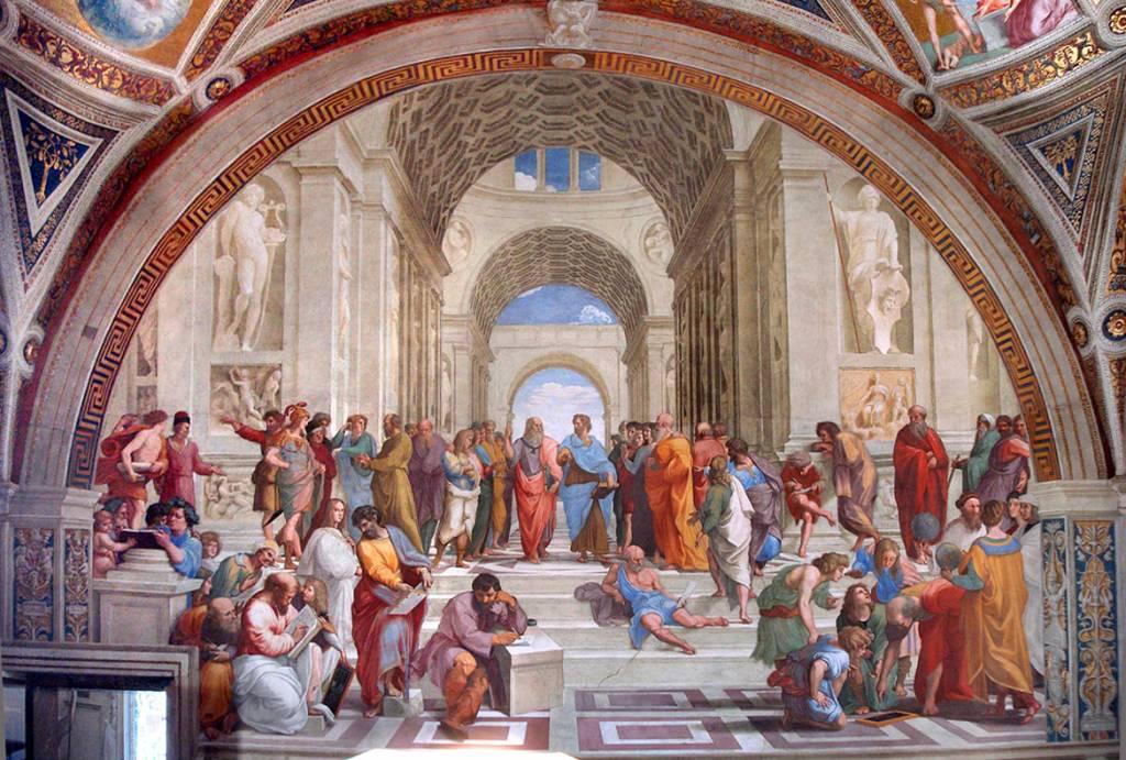 Escola de Atenas, Vaticano, Roma, Lázio, Itália