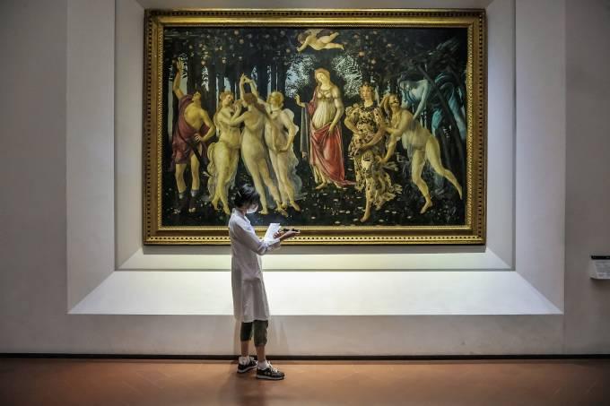 Galleria degli Uffizi, Florença, Toscana, Itália