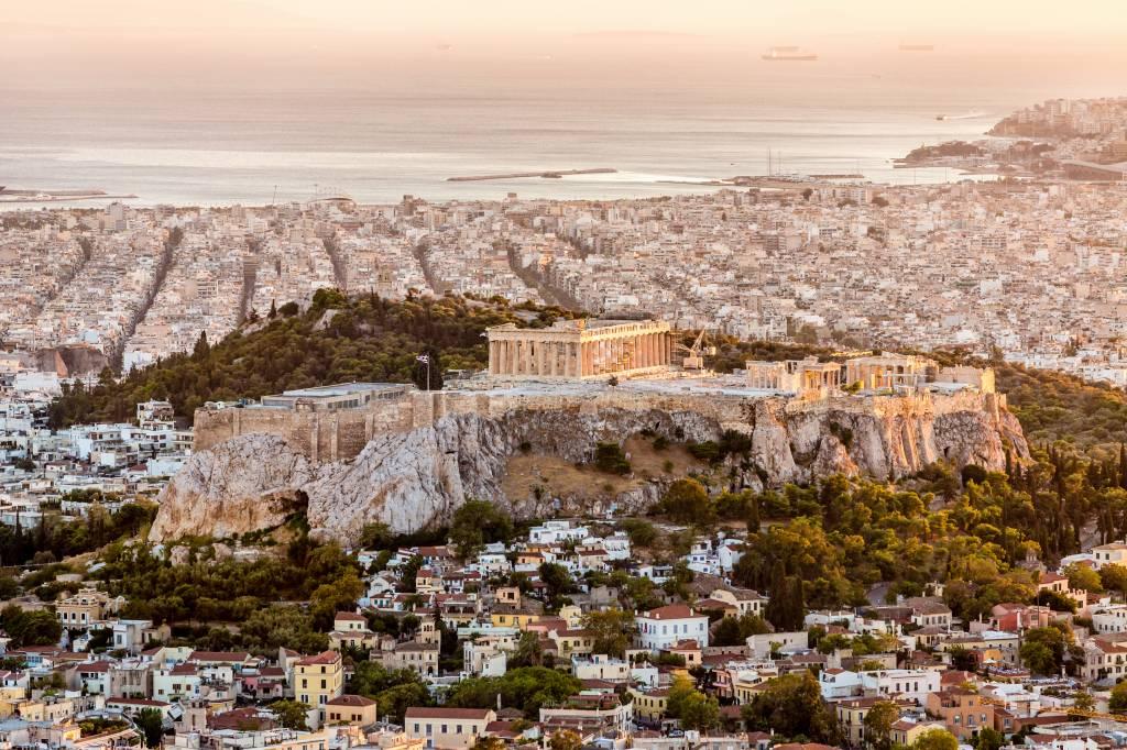 Acrópoles de Atenas, na Grécia