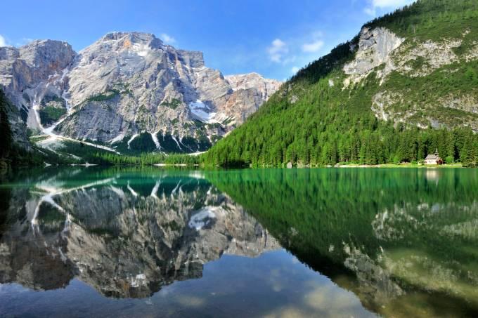 Lago di Braies, Trentino-Alto Adige, Itália