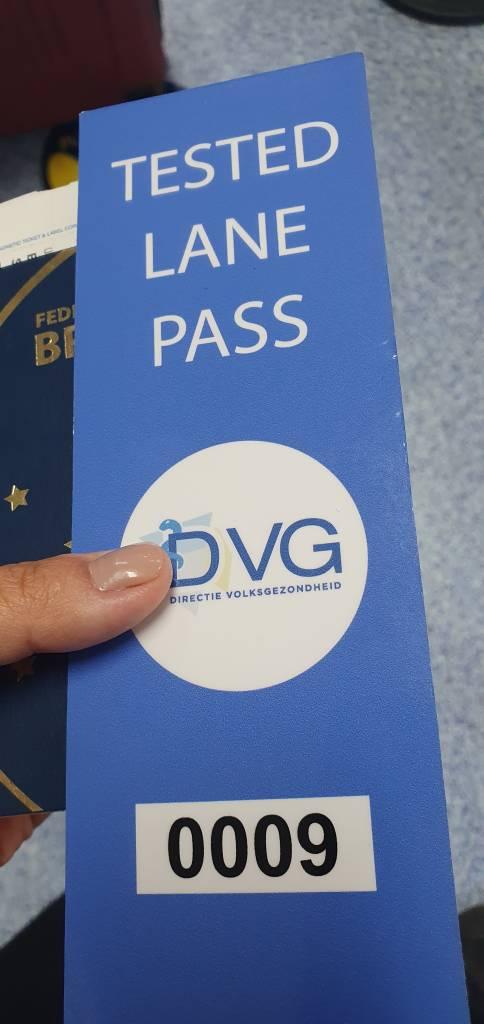 Cartão entregue a quem apresenta teste negativo na chegada a Aruba