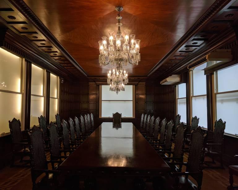 Sala de reunião dos antigos diretores do banco