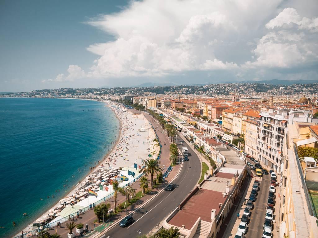 Foto aérea de Nice, França