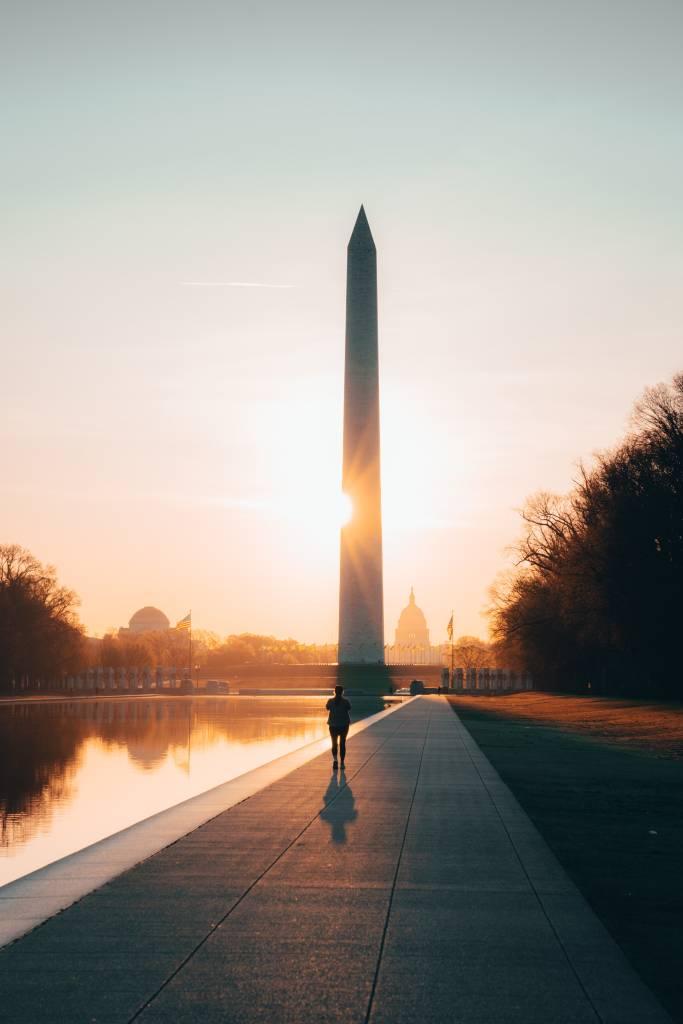 Obelisco no The Mall, em Washington D.C.