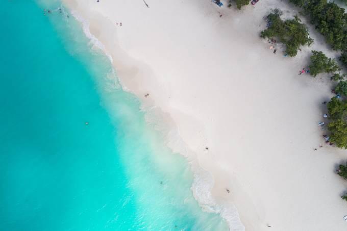 Vista aérea de Eagle Beach, Aruba