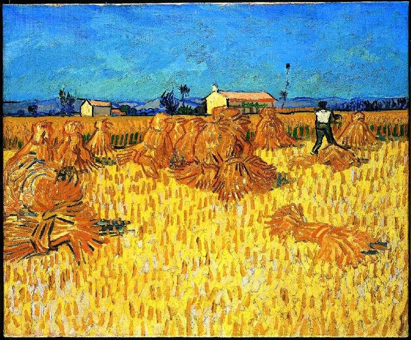 Quadro Colheita de milho em Provença