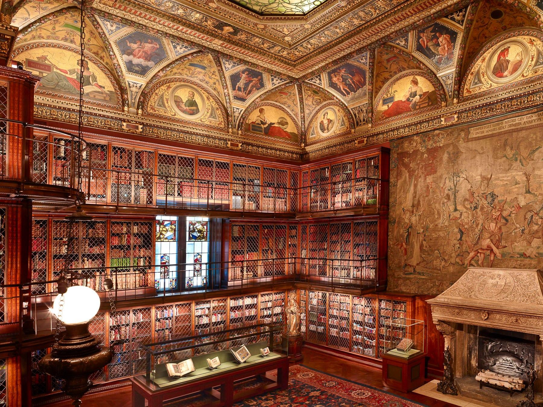 Interior da Biblioteca e Museu Morgan