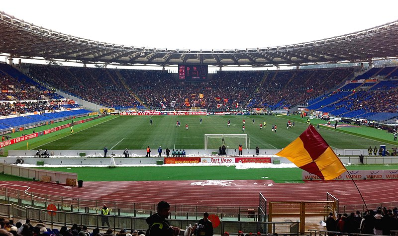 Estádio Olímpico recebe partidas das Equipes da Roma e Lazio