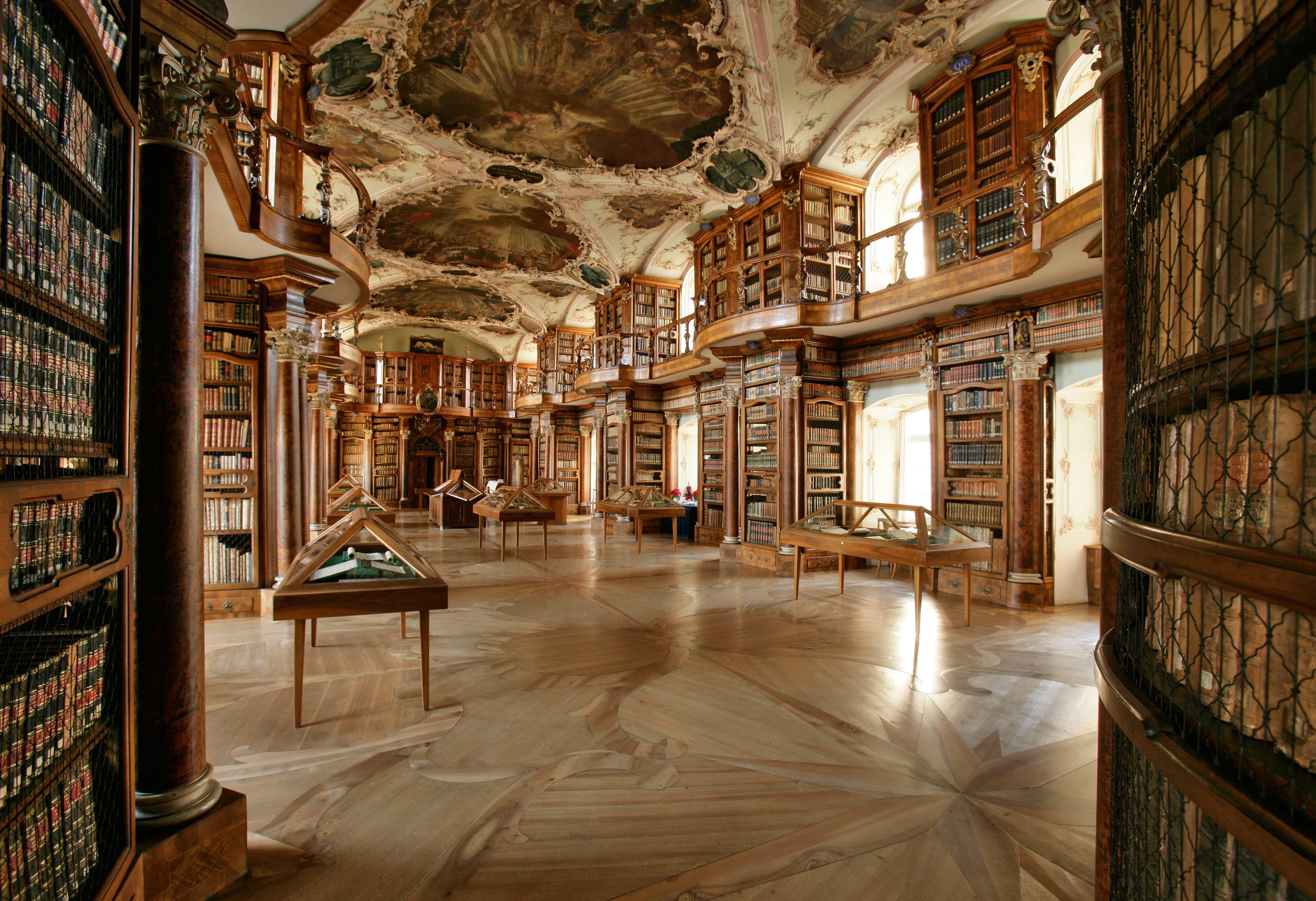 Interior da Biblioteca da Abadia de São Galo