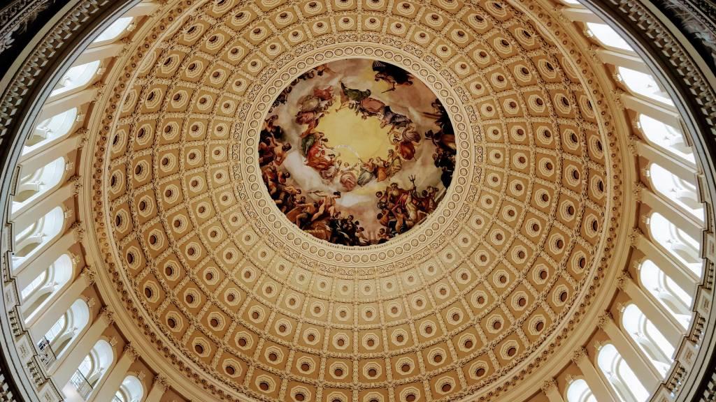 Afrescos da Rotunda do Capitólio em Washington D.C.