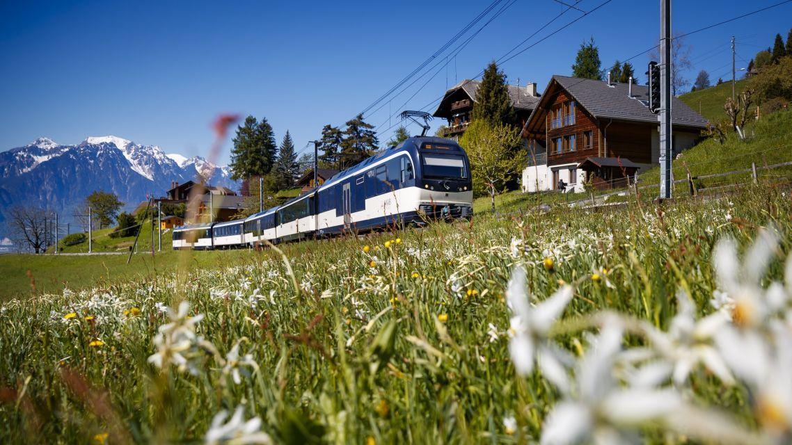 O GoldenPass atravessando a Suíça que habita o nosso imaginário