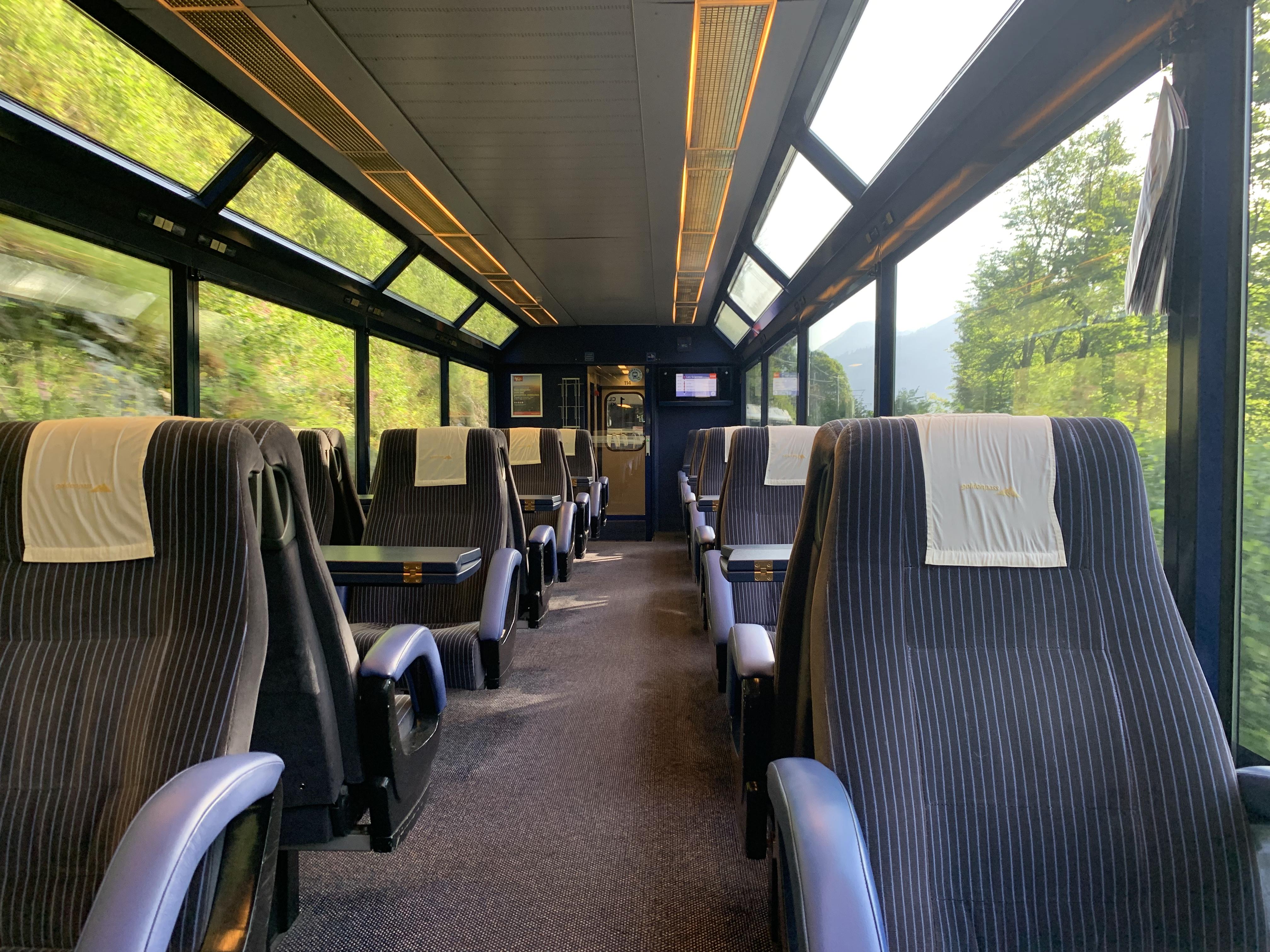 Um sonho: sozinha no vagão da primeira classe no GoldenPass