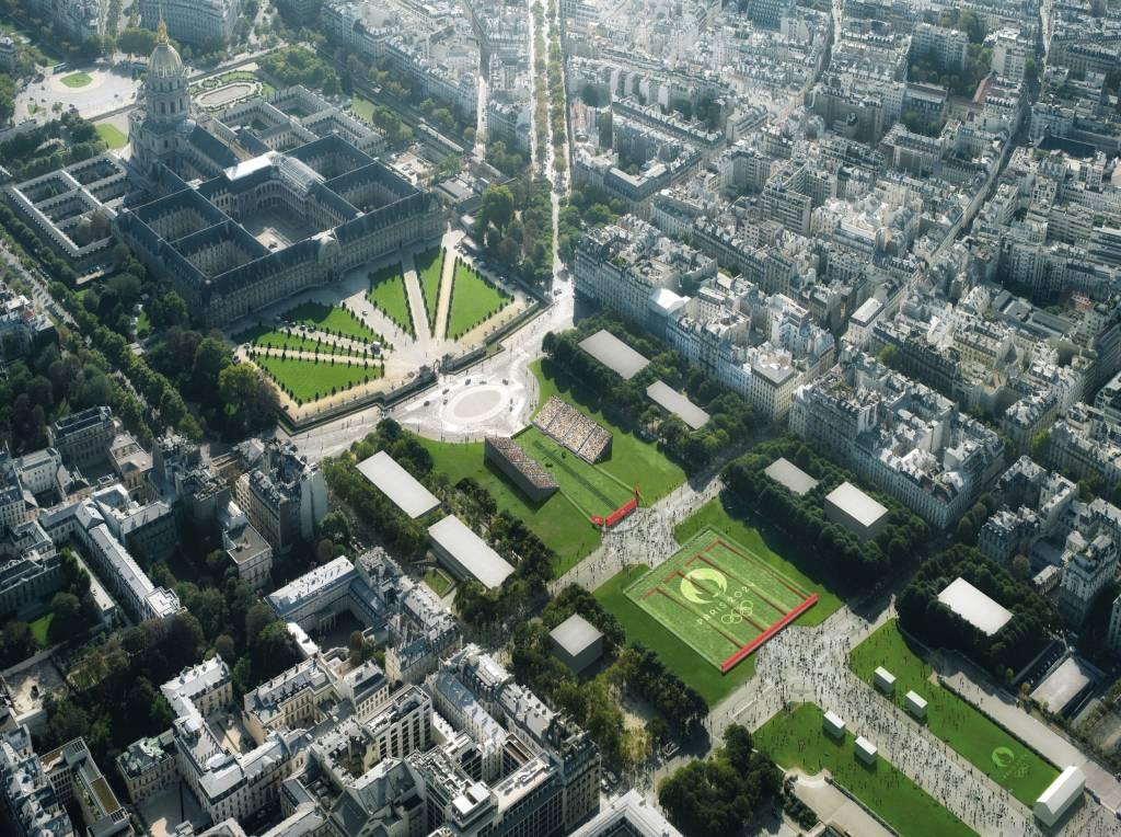 Tiro com arco no Hôtel des Invalides nos Jogos Olímpicos de Paris em 2024