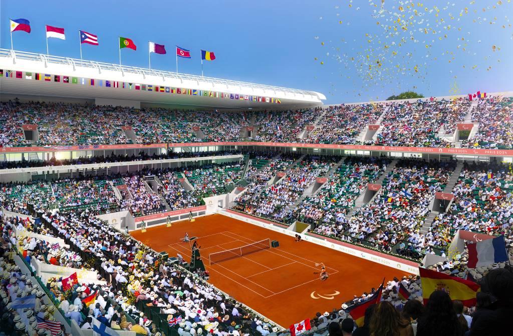 Tênis em Roland Garros durante as Olimpíadas de Paris em 2024