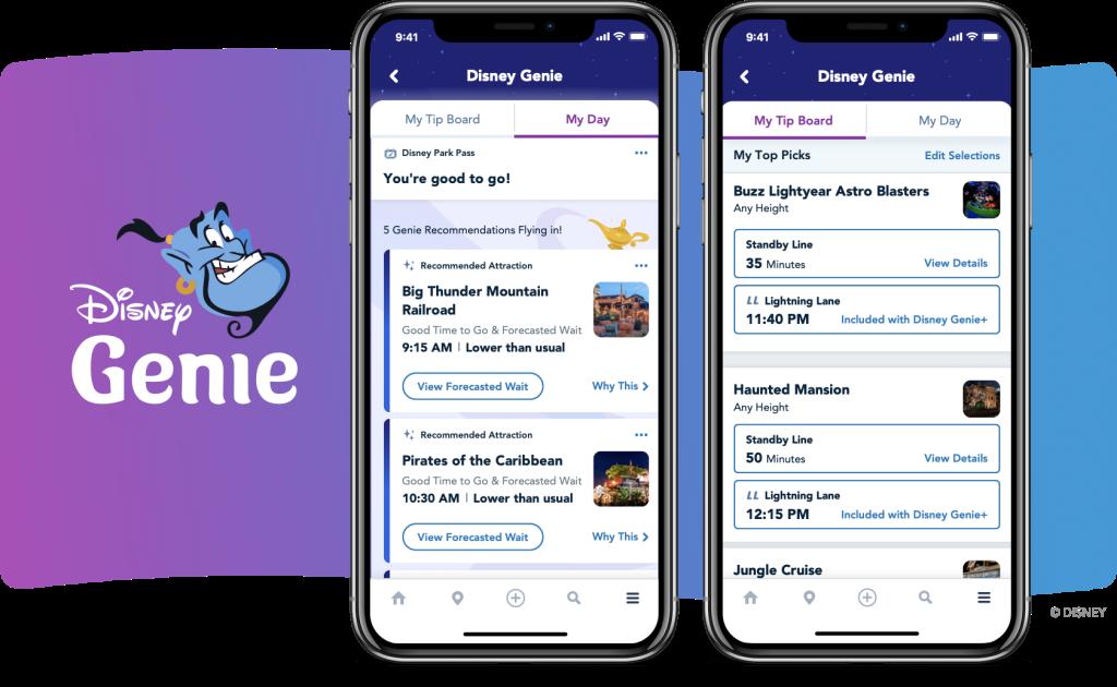 Genie, novo sistema digital dos parques da Disney