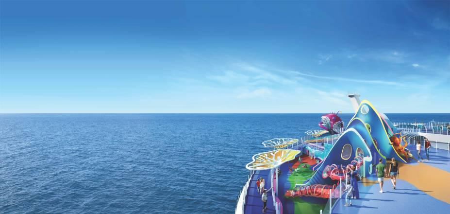 Para as crianças menores, o Wonder Playscape é uma área de recreação com escorregadores, paredes de escalada, jogos e quebra-cabeças