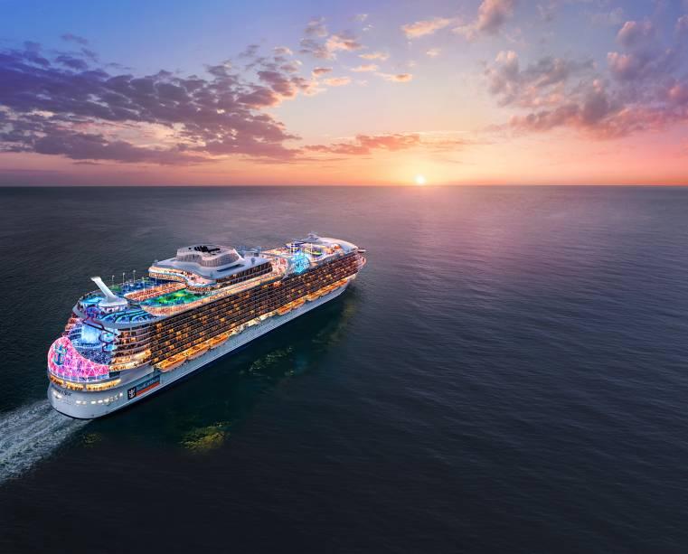 O Wonder of the Seas fará a sua estreia no Caribe antes de seguir para o Mediterrâneo