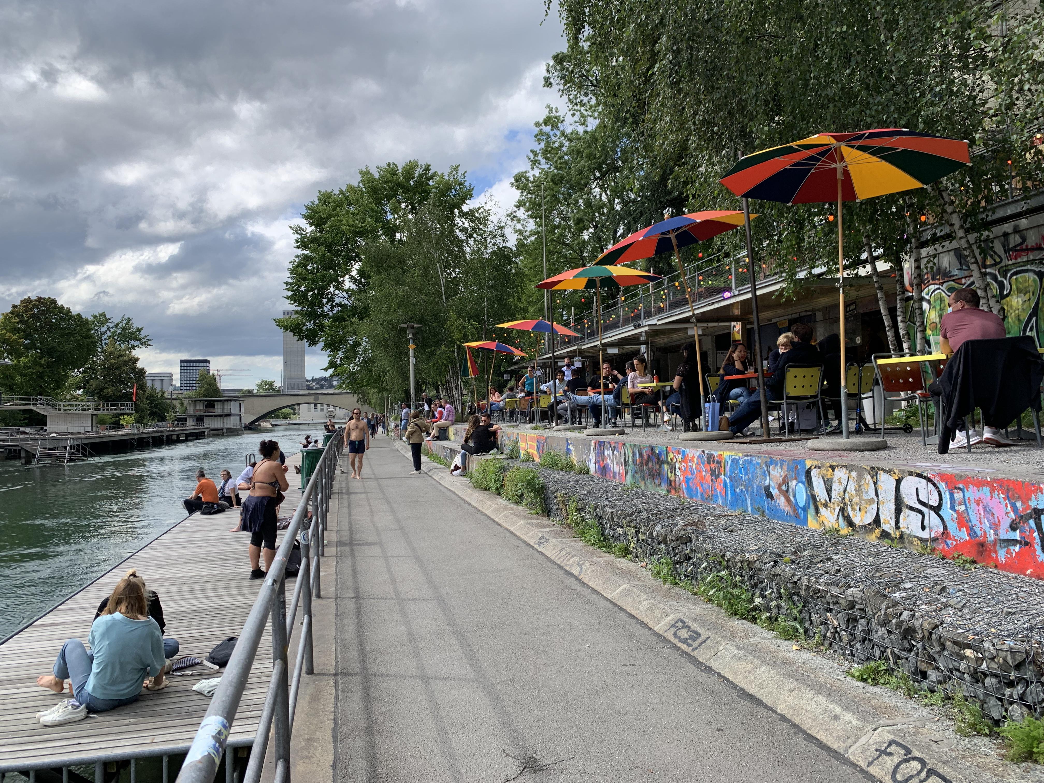 A vibe do verão em Zurich West