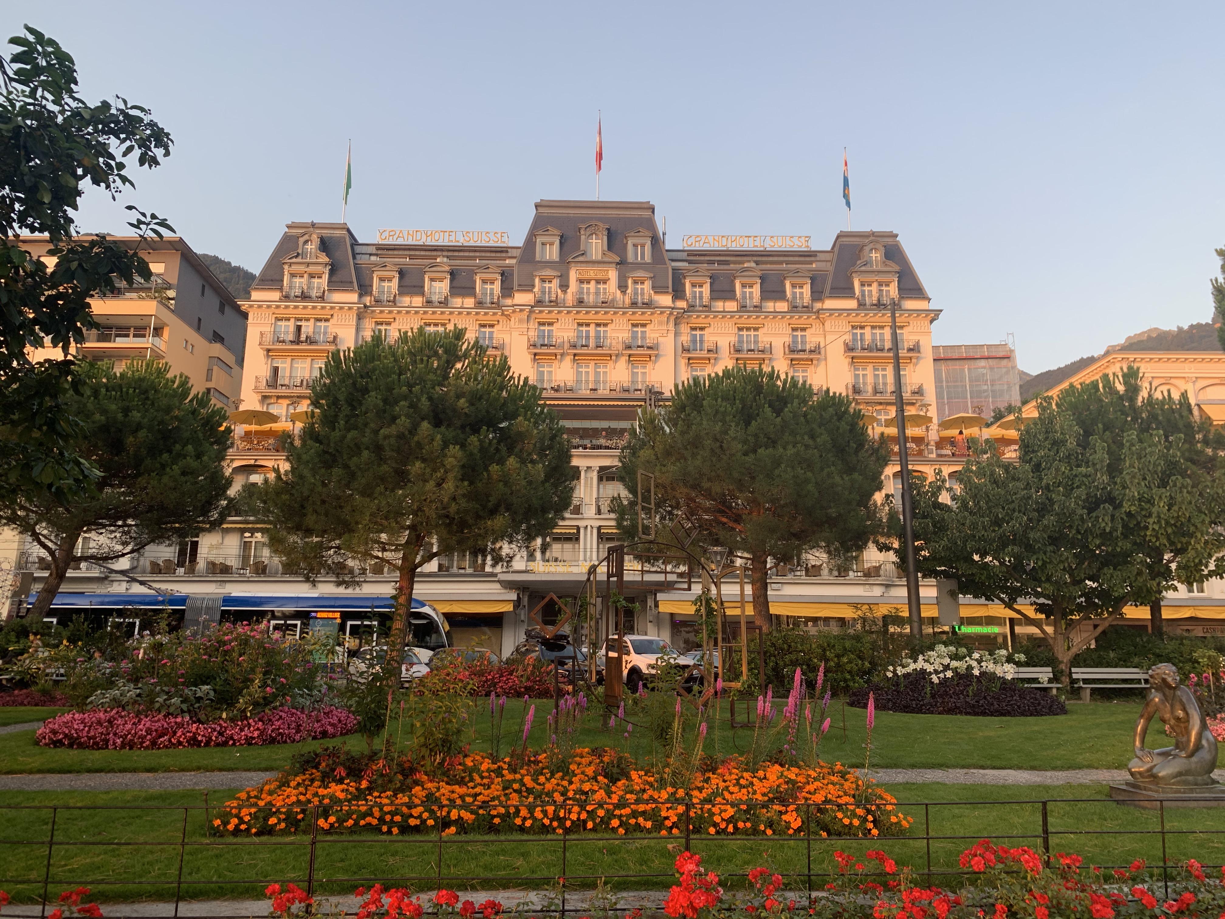 A arquitetura Belle Époque que predomina na orla de Montreux