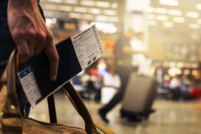 Embarque em aeroporto
